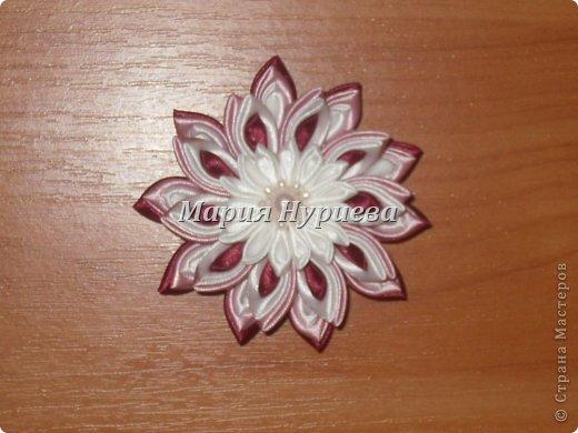 Розы-брошки-канзаши. фото 9