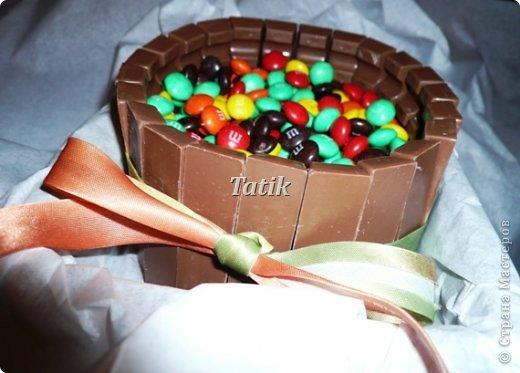 """Сегодня у подружки день рождения!:) сладкий день!) делали вчера вот такой """"тортик"""")  фото 1"""