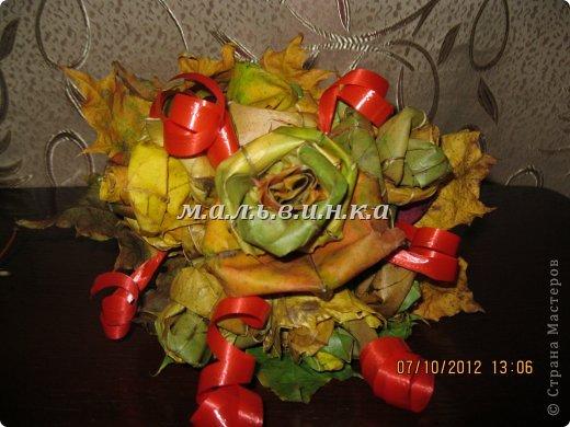 букет из кленовых листьев фото 2