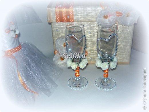 Оранжевая свадьба фото 13