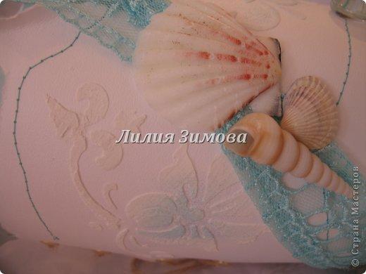Ваза для одной девушки, делала на свой вкус.Тематику тоже выбрала сама...захотелось мне моря.....Фото в разных ракурсах... фото 5