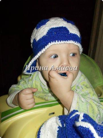 Всем привет!!! Пинетки-кеды и кепку в виде футбольного мяча я связала в подарок малышу на годик. фото 32