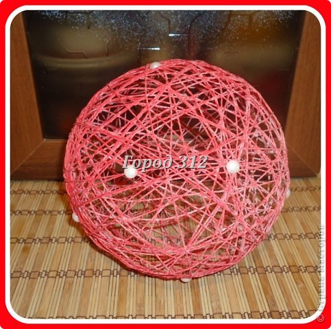 Как сделать шарик с помощью нитки