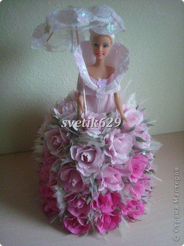Мастер-класс Свит-дизайн Бумагопластика Моя Королевишна + МК кукла и зонтик Бумага гофрированная Кружево Ленты фото 1