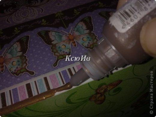 Декор предметов Скрапбукинг Декупаж Шкатулка для девочки + МК по клею Бумага Бусины Скотч фото 19