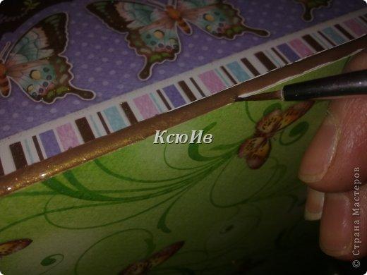 Декор предметов Скрапбукинг Декупаж Шкатулка для девочки + МК по клею Бумага Бусины Скотч фото 21