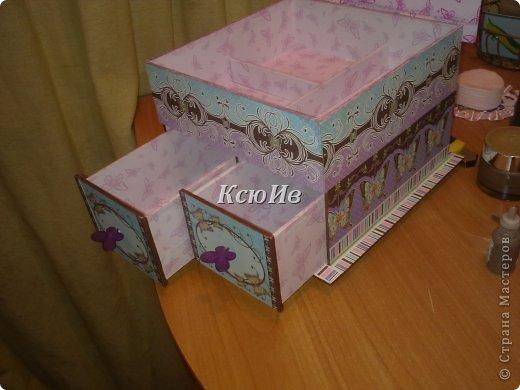 Декор предметов Скрапбукинг Декупаж Шкатулка для девочки + МК по клею Бумага Бусины Скотч фото 4
