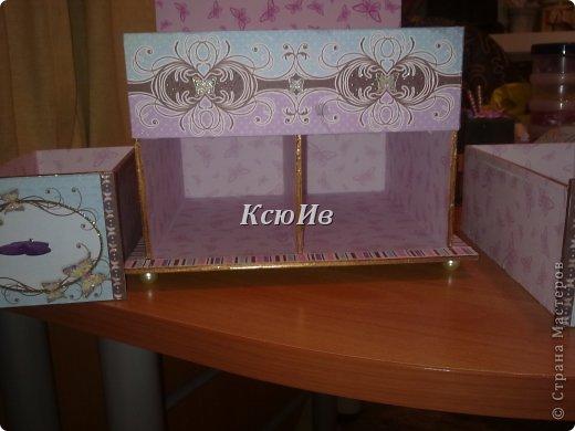 Декор предметов Скрапбукинг Декупаж Шкатулка для девочки + МК по клею Бумага Бусины Скотч фото 7