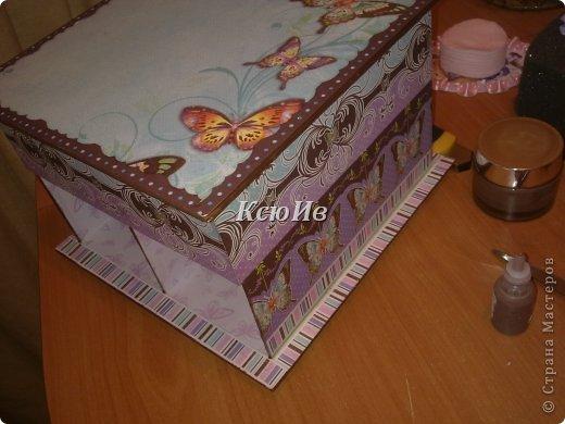Декор предметов Скрапбукинг Декупаж Шкатулка для девочки + МК по клею Бумага Бусины Скотч фото 8