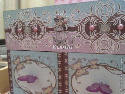 Декор предметов Скрапбукинг Декупаж Шкатулка для девочки + МК по клею Бумага Бусины Скотч фото 11