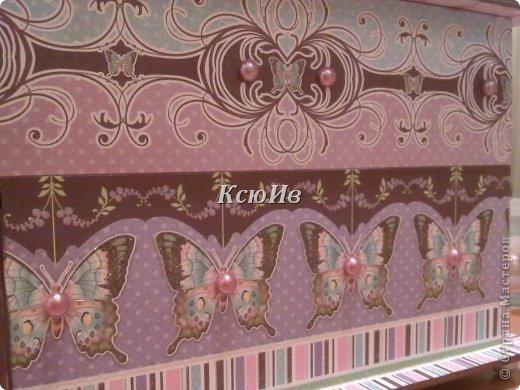 Декор предметов Скрапбукинг Декупаж Шкатулка для девочки + МК по клею Бумага Бусины Скотч фото 12
