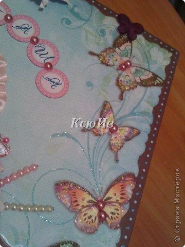 Декор предметов Скрапбукинг Декупаж Шкатулка для девочки + МК по клею Бумага Бусины Скотч фото 15