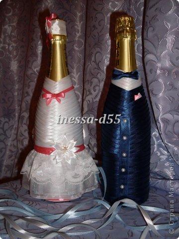 Свадебная бутылка-жених » Сделай сам своими руками 26