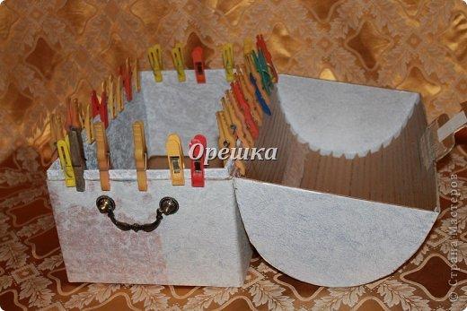 Поделка изделие Бумагопластика Пейп- арт сундук МК   Салфетки фото 9