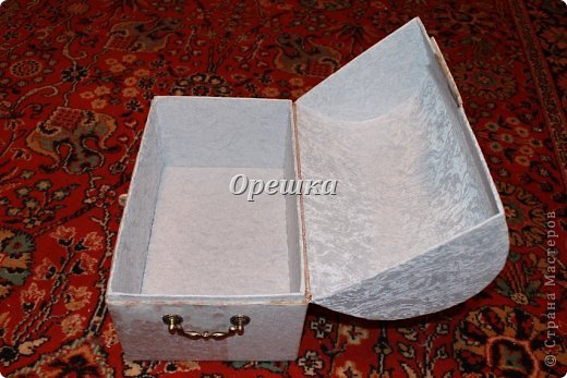 Поделка изделие Бумагопластика Пейп- арт сундук МК   Салфетки фото 10