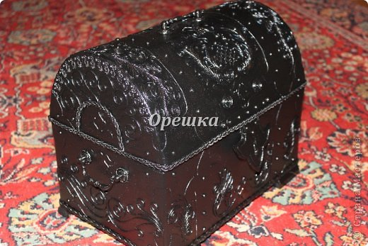 Поделка изделие Бумагопластика Пейп- арт сундук МК   Салфетки фото 17
