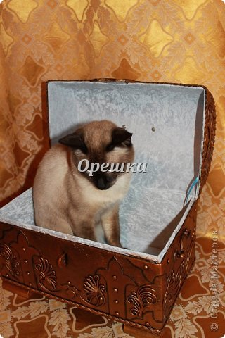 Поделка изделие Бумагопластика Пейп- арт сундук МК   Салфетки фото 21