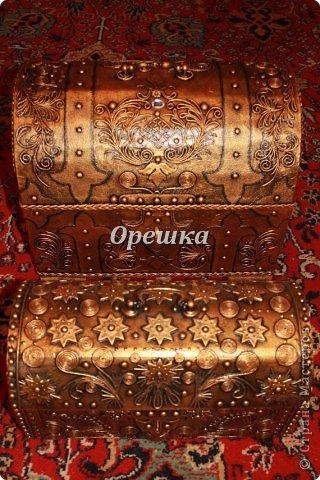 Поделка изделие Бумагопластика Пейп- арт сундук МК   Салфетки фото 22