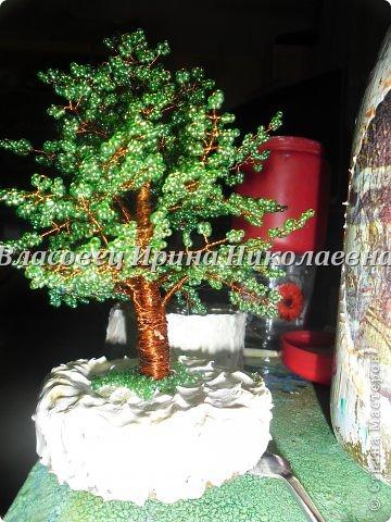 Поделка изделие Бисероплетение Деревца из бисера Бисер фото 7.