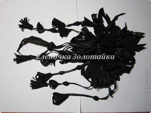 Цветы из кожи клей кожа нитки фото 1