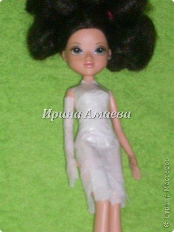 Мастер-класс Вырезание Шитьё Одежда для кукол выкройка Бумага Кружево Нитки Пуговицы Ткань фото 20