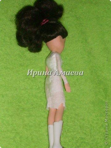 Мастер-класс Вырезание Шитьё Одежда для кукол выкройка Бумага Кружево Нитки Пуговицы Ткань фото 21