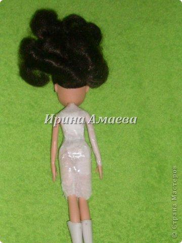 Мастер-класс Вырезание Шитьё Одежда для кукол выкройка Бумага Кружево Нитки Пуговицы Ткань фото 22