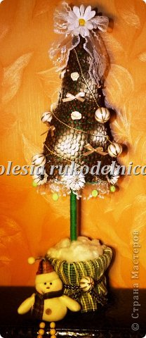 Дерево счастья. Материалы органза, искус.цветы, гипс, декоративная ива. фото 6