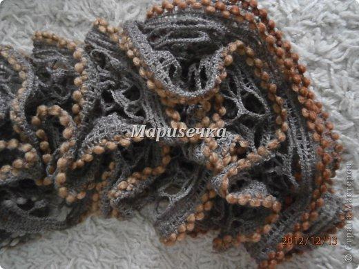Интересненький шарф маме фото 2