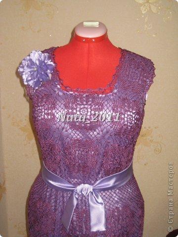 Платье крючком на Новый год. фото 2