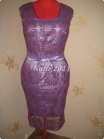 Платье крючком на Новый год. фото 1