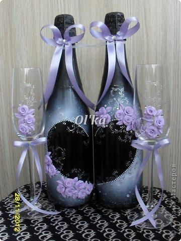 Здравствуйте, Мастерицы!!!! Хочу показать Вам свои новые работы с цветочками из пластики. Моя первая ваза. Сделана на заказ.  фото 9