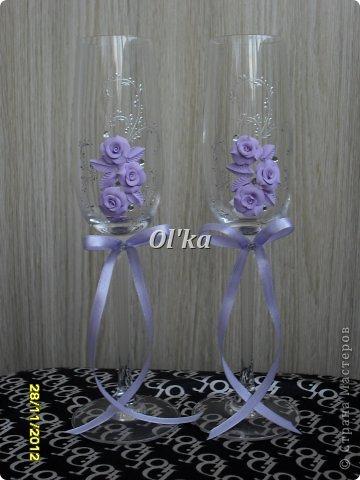 Здравствуйте, Мастерицы!!!! Хочу показать Вам свои новые работы с цветочками из пластики. Моя первая ваза. Сделана на заказ.  фото 10