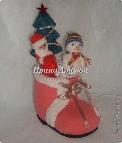 Новогодний башмак со сказочными персонажами фото 1