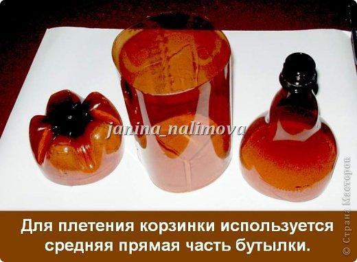 Вот сплела себе две корзинки из пластиковых бутылок. Нашла в интернете какой-то иностранный журнал, посмотрела как плести и взялась за дело... фото 5