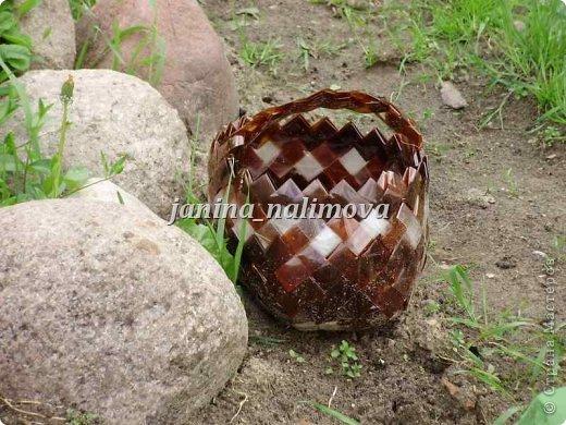 Из коричневых пластиковых бутылок поделки