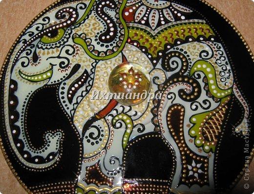 Картина панно рисунок День рождения Новый год Витраж Роспись Дискомания Диски компьютерные Краска фото 2