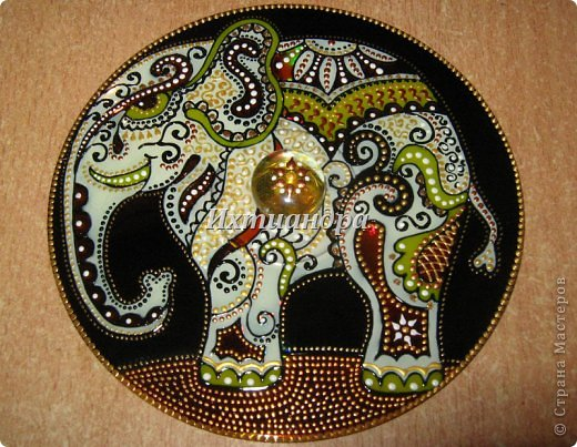 Картина панно рисунок День рождения Новый год Витраж Роспись Дискомания Диски компьютерные Краска фото 3