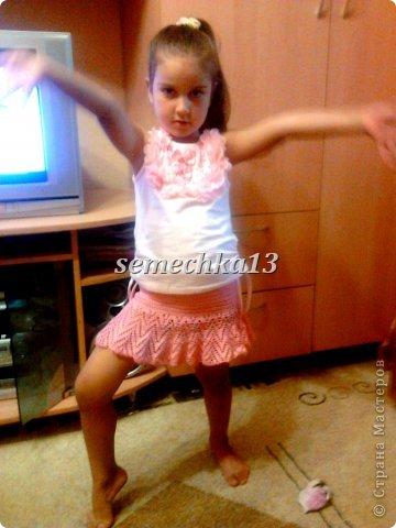 Детская юбка крючком схема 1.7года