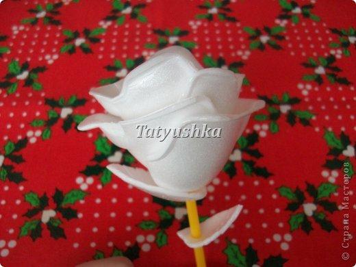 Здравствуйте, мастера и мастерицы! Предлагаю посмотреть, как можно сделать или попробовать самим сделать простые цветочки из упаковки от яиц. фото 3