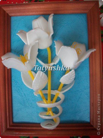 Здравствуйте, мастера и мастерицы! Предлагаю посмотреть, как можно сделать или попробовать самим сделать простые цветочки из упаковки от яиц. фото 45