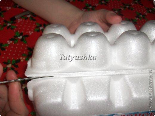 Здравствуйте, мастера и мастерицы! Предлагаю посмотреть, как можно сделать или попробовать самим сделать простые цветочки из упаковки от яиц.  фото 7