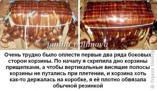 Вот сплела себе две корзинки из пластиковых бутылок. Нашла в интернете какой-то иностранный журнал, посмотрела как плести и взялась за дело... фото 26