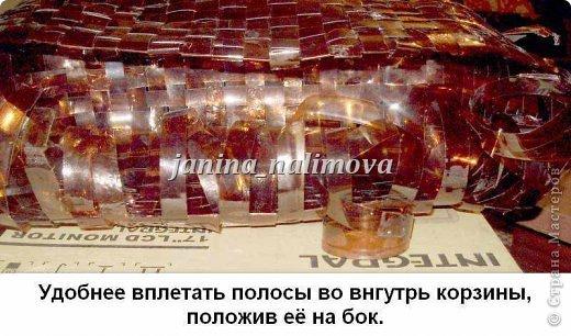 Вот сплела себе две корзинки из пластиковых бутылок. Нашла в интернете какой-то иностранный журнал, посмотрела как плести и взялась за дело... фото 32