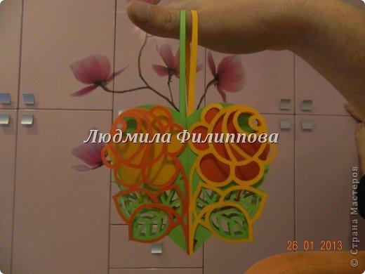 Мастер-класс Открытка Поделка изделие 8 марта Валентинов день Вырезание Мини МК Валентинка + схемы Бумага фото 16
