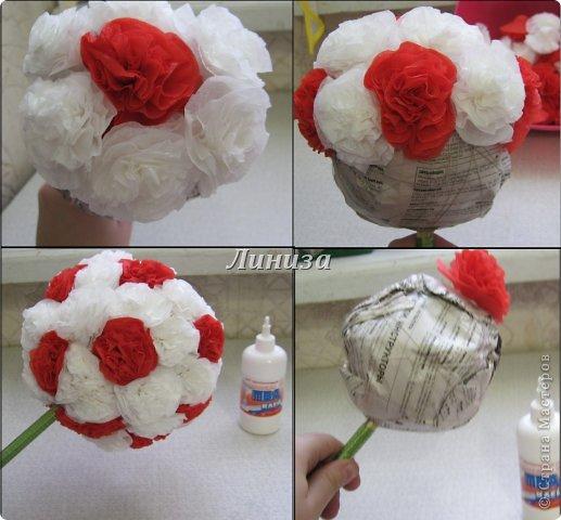 Квіти з салфеток своими руками 8