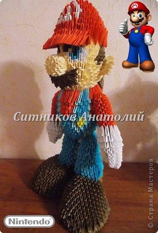 Марио из модулей Бумага