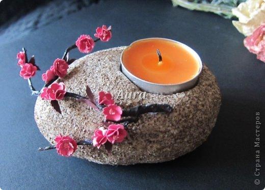 """Interior Oficina de Artesanato produto Quilling Sculpting """"Stone"""" - MK castiçal Papel argila de café de sal foto 2"""
