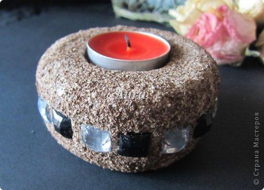 """Interior Oficina de Artesanato produto Quilling Sculpting """"Stone"""" - MK castiçal Papel argila de café de sal Foto 3"""