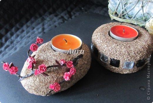 """Interior Oficina de Artesanato produto Quilling Sculpting """"Stone"""" - MK castiçal Papel argila de café de sal foto 1"""